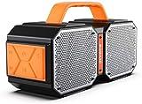 Bluetooth Lautsprecher 5.0, Tragbarer Wasserdichter Bluetooth Lautsprecher für Draußen. Qualitätsgeprüft. 40W Drahtlose Stereoübertragung.Hervorragender Bass Musikbox.Eingebautes Mik