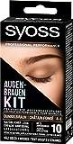 SYOSS Augenbrauen-Kit permanente Augenbrauenfarbe 4-1 Dunkelbraun, natürlicher Look, 1er Pack (1 x 17 ml)