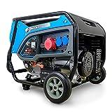 DeTec. DT-6500E-3 Benzin Generator | Stromerzeuger mit 6 kW 230 V | Notstromaggregat für (Not-) Stromversorgung | Stark
