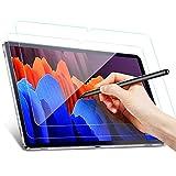 Benazcap Panzerglas Schutzfolie für Samsung Galaxy Tab S7 FE 2021 und S7+ 12.4 Zoll 2020, Anti-Bläschen, Anti-Kratzer Schutzfolies für Samsung Galaxy Tab S7 FE 2021 und S7 Plus 12.4, 2 Stück