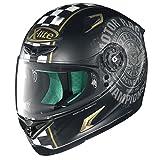 X-lite X-802RR Cafe Club Integralhelm Motorrad Verbundfaser - matt schwarz Gold Größe M