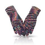 MAJCF Winterhandschuhe für Damen, kaltes Wetter, warme Touchscreen-Handschuhe, Chenille, elastische Manschette, Thermo-Handschuhe zum Laufen und Fahren - - Einheitsgröß