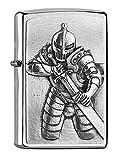 ZIPPO - Fantasy Knight, Emblem - Brushed Chrome - Sturmfeuerzeug, nachfüllbar, in hochwertiger Geschenkbox