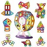 AUGYMER Magnetisches Baustein-Set, 87-teilig, kreatives Konstruktionsspielzeug für Kinder, kreatives Denken, Riesenrad-Bauset mit Anleitung (evtl. nicht in deutscher Sprache), Aufbewahrungsbox