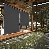 Riossad Senkrechtmarkise Vertikalmarkise Sonnenschutz Beschattung Wasserfest Balkonrollo für Balkon, Terrasse, Garten,140 x 240 cm g