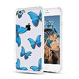 LuGeKe Clear Cover für iPhone SE 2020, 4,7 Zoll Stoßfest Bumper Case für Apple iPhone 7/8/SE 2nd Generation mit Design, Cute Personalized Phone Cases, Butterfly