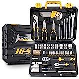 Hi-Spec 89-teiliges Heim & Werkstatt-Werkzeugset. Autoset, Motorrad & Heimreparaturen & Instandhaltung DIY Handwerkzeuge für die Werkstatt. Alles in einem Aufbewahrungsk