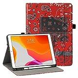 iPad 10.2 Hülle 2020 iPad 8th Generation Hülle mit Stifthalter, Premium PU Leder Folio Cover für iPad 7th Generation 2019, Auto Wake and Sleep, Magnetverschluss, mehrere Betrachtungswinkel Stand C