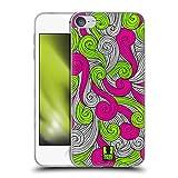 Head Case Designs Neon Pink Und Grün Lebhafter Wirbel Soft Gel Handyhülle Hülle kompatibel mit Apple Touch 6th Gen/Touch 7th G