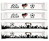 Fußball Fan-Zuckersticks | 150 Sticks x 4g | Natürlich nachhaltiger Markenzucker aus deutschem Zuckerrübenanbau | Limitierte Auflage kurze Z