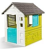 Smoby 810710 – Pretty Haus - Spielhaus für Kinder für drinnen und draußen, erweiterbar durch Zubehör, Gartenhaus für Jungen und Mädchen ab 2 J