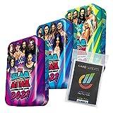 Generisch WWE Slam Attax 2021 - Trading Cards - Alle 3 verschiedenen Tin Boxen + 40 Collect-it Hüllen S