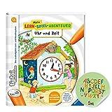 tiptoi Ravensburger Buch - Mein Lern-Spiel-Abenteuer | Uhr und Zeit + ABC Kinder Werbesticker von Collectix