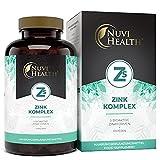 Zink 5-Fach Komplex mit 25mg - 365 Tabletten - Premium: Zink-Bisglycinat (Zink-Chelat) von Albion®, Zink-Gluconat, Zink-Ascorbat, Zinkcitrat, Zinksulfat - Laborgeprüft - H