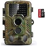 COOLIFE Wildkamera Fotofalle 21MP 1080P HD Jagdkamera Nachtsicht Bewegungsmelder IP67 Wasserdichter& Staubdicht 3-Zonen-Infrarotsensor 125 °Weitwinkel Nachtsichtkamera mit 32G Speicherk