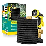 Flexibler Gartenschlauch Wasserschlauch Flexibel mit 10-Funktions-Düse Brause Adapter aus Messing Aufhänger Bewässerung Gartenarbeit Autowäsche Hof 50FT(15m)/75FT(22.5m)/ 100FT(30m)/ 150FT(45m)