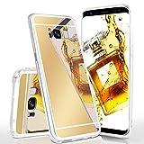 moex Mirror Case kompatibel mit Samsung Galaxy S8 Spiegelhülle aus Silikon, Hülle mit Spiegeleffekt, Glitzer Handy Schutzhülle verspiegelt, Spiegel Handyhülle - G
