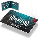 RFID Blocker Karte mit LED Indikator Technologie | Neuster Störsender | Deutsche Marke | Keine Reststrahlung | 100% Schutz Dank E-Field | Keine Schutzhüllen mehr | Kredit-Karte EC Bank NFC 13,56 MH