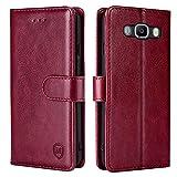 xinyunew Handyhülle für Samsung Galaxy J7 2016/J710 Hülle,Hülle Handyhülle iPhone Leder Flip Case Ständer PU Brieftasche Schutzhülle für Samsung Galaxy J7 2016/J710,R