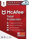 McAfee Total Protection 2021 | 1 Geräte | 1 Jahr | Antivirus Software, Virenschutz-Programm, Passwort Manager, Mobile Security, Multi Geräte | PC/Mac/Android/iOS |Europäische Ausgabe| Download C