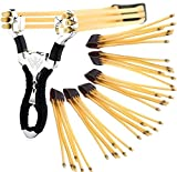 U&X Steinschleuder zwille Slingshot Schleuder Pocket Shot und 6 Pc Gummiband für Schleuder Outdoor Slingshot Sp
