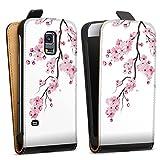 DeinDesign Tasche kompatibel mit Samsung Galaxy S5 Mini Flip Case Hülle Schwarz Kirschblüten Jap