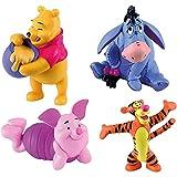 Bullyland - Winnie Puh - 4er Figuren Set mit Winnie, I-Ah, Ferkel und Tigg