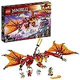LEGO 71753 NINJAGO Kais Feuerdrache Drachen Spielzeug ab 8 Jahre, Set mit 4 Ninja Mini Fig