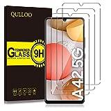 QULLOO Panzerglas für Samsung Galaxy A42 5G, [3 Stück] 9H Hartglas Schutzfolie HD Displayschutzfolie Anti-Kratzen Panzerglasfolie Handy Glas Folie für Samsung Galaxy A42 5G