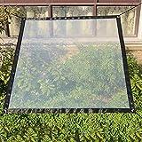 Sureh 2 x 3 m wasserdichte transparente Plane mit Ösen, Vordächer und Planen, strapazierfähige, transparente, wetterfeste Plane, faltbar, Pflanzendach, Regenschutz, S