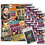 Generisch WWE Slam Attax 2021 - Trading Cards - 1 Starter + 10 Booster + 40 Collect-it Hüllen S