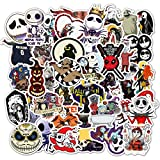 50 Halloween-Serie Graffiti-Aufkleber [Zombie-Braut] Cartoon-Koffer-Gitarren-Skateboard wasserdichte Aufkleb