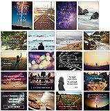 Sophies Kartenwelt - 20er Postkarten Set LEBEN mit 20 Sprüchen und Z