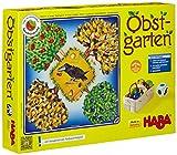 Haba 4170 - Obstgarten Spannendes Würfelspiel, mit 40 Früchten aus Holz und leicht verständlichen Spielregeln, beliebtes Brettspiel ab 3 J
