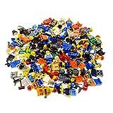 10 x Lego System Figuren Town City Mini Figur mit Zubehör Mann Frau zufällig g