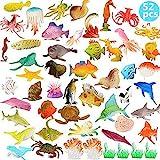 BESTZY 52pcs Meerestiere Fische Deko Plastik Spielzeug Realistisch Unterwasser Tiere Badespielzeug MeerestiereFiguren für Kinder Zum Lernen Party