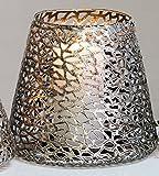 Casablanca - Windlicht/Kerzenständer - Purley - Metall - Farbe: antik-Silber - Ø 20