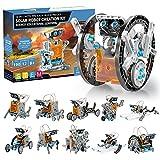 Solar Roboter Bausatz Kinder STEM Experimente 190 Stücke Lernspielzeug Geschenke, 12-IN-1 Solarenergie Kits für Jungen ab 8 J