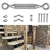 muzata Kabel Reling-Set, Passform 1/20,3cm Edelstahl Draht Seil Kabel, Anzug für H