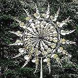 XIAOYUE Einzigartige und magische Metall-Windmühle,Outdoor kinetische Bewegung langlebige Windfänger, Skulpturen bewegen Sich mit dem Wind,Solar-Wind-Spinner-Fänger für Terrassen-Rasen-Dek