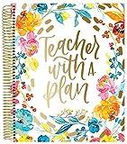 bloom daily planners Undatierter akademischer Jahresplaner & Kalender mit mattierter Schutzabdeckung - Unterrichtsplan-Organizer-Buch (22,9 x 27,9 cm) - L