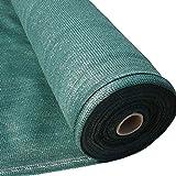 Masgard® Schattiergewebe 150 g/m² Verschiedene Abmessungen (Schattierwert ca. 90%) Sonnenschutz Sichtschutz Windschutz Zaunblende (1,80 m x 10,00 m = 18 m² (gefaltet), Grün)